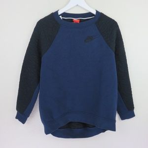 Nike Black/Blue Rally Quilted Crewneck
